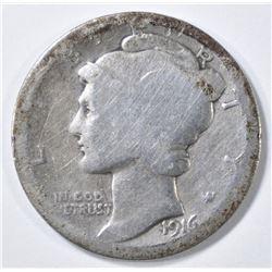 1916-D MERCURY DIME  AG