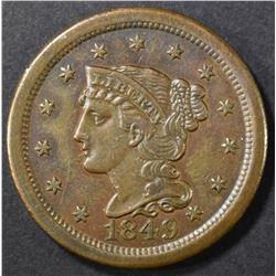 1849 LARGE CENT CH AU