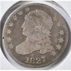 1827 BUST DIME, VG