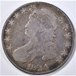 1824 BUST HALF DOLLAR FINE