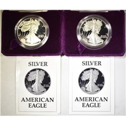 2-1987-S PROOF AMERICAN SILVER EAGLES