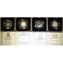ROYAL MINT STERLING SILVER COINS