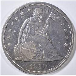 1850 SEATED DOLLAR, AU/BU LOW  MINTAGE OF 7500