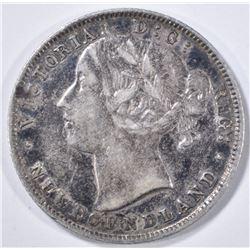 1896 SILVER 20 CENT NEWFOUNDLAND