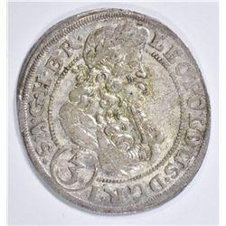 1700 SILVER 3 KREUZER KING LEOPOLD