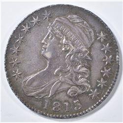 1815/2 BUST HALF DOLLAR  AU/BU
