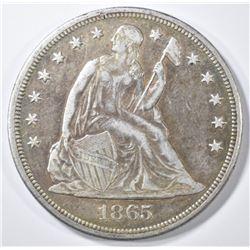 1865 SEATED LIBERTY HALF DOLLAR  XF