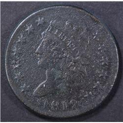 1812 LARGE CENT, F/VF corrosion