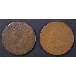 1866 AG, & 67 G INDIAN CENTS