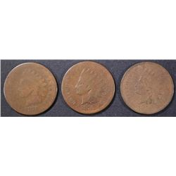 1874, 75, 76 INDIAN CENTS AG-G