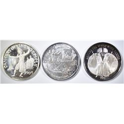 3-MARDIS GRAS SILVER DOUBLOONS