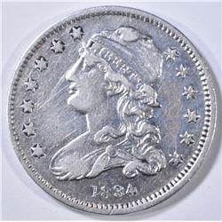 1834 BUST QUARTER XF/AU