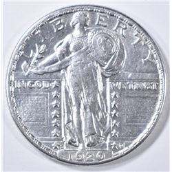 1920-S STANDING LIBERTY QUARTER AU/BU