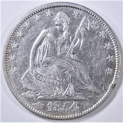 1854-O SEATED LIBERTY HALF DOLLAR AU