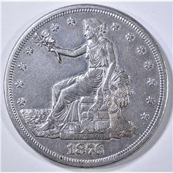 1876-S TRADE DOLLAR AU/BU