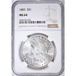 1883 MORGAN DOLLAR NGC MS-64