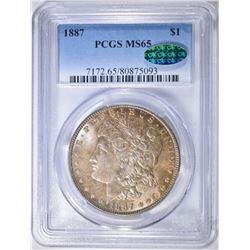 1887 MORGAN DOLLAR PCGS MS-65 CAC GREAT COLOR