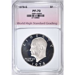 1978-S CLAD IKE DOLLAR, WHSG PERFECT GEM Pf DCAM