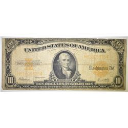 1922 $10.00 GOLD CERTIFICATE LARGE SIZE NOTE