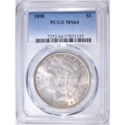 1898 MORGAN DOLLAR PCGS MS-64