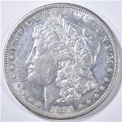 1884-S MORGAN DOLLAR AU/BU GOOD LUSTER