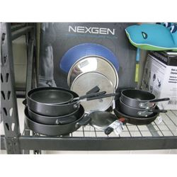 USED SET OF POTS AND PANS