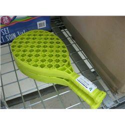 USED SET OF PLASTIC RACKETS