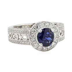 1.89 ctw Sapphire and Diamond Ring - Platinum