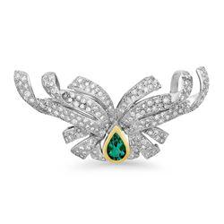 18k Gold 2.53CTW Diamond Pendant, (SI2-SI3/G-H)