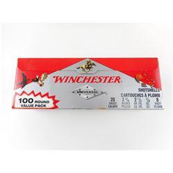"""WINCHESTER 20 GAUGE 2 3/4"""" SHOTSHELLS"""