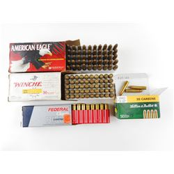 30 CARBINE ASSORTED AMMO, INCLUDING RELOADED AMMO