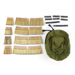 308 WIN AMMO ON STRIPPER CLIPS, IN TACTICAL TAILOR BAG