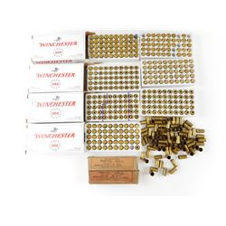 45 CAL, 40 S&W AMMO, 40 S&W BRASS CASES, MOSTLY WINCHESTER