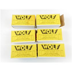 WOLF FACTORY RELOADED AMMO, BRASS CASES