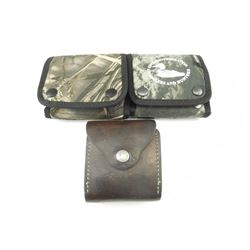 30-06 SPRG AMMO, IN CANVAS AND LEATHER POUCHES