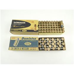 38 SMITH AND WESSON ASSORTED AMMO
