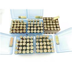 20 GAUGE SHOTSHELLS, ASSORTED IN PLASTIC AMMO BOXES