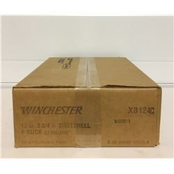"WINCHESTER 12 GAUGE 2 3/4"" NO 4 BUCK SHOTSHELLS"