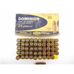 25 AUTOMATIC ASSORTED AMMO