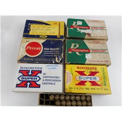 LONG RIFLE ASSORTED AMMO, BRASS