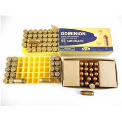 45 AUTOMATIC, BALL-MATCH 45 CAL ASSORTED AMMO