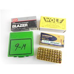 9MM ASSORTED AMMO, RELOADED AMMO