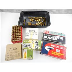9MM ASSORTED AMMO, RELOADED AMMO, BLANKS