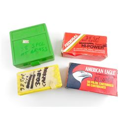 38 SPECIAL RELOADED AMMO, FACTORY AMMO, SPEER PLASTIC AMMO