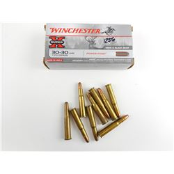 30-30 WIN ASSORTED AMMO, RELOADS