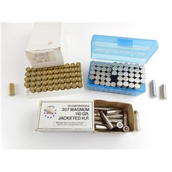 357 MAG AMMO, BRASS CASES, 38 SPECIAL BRASS CASES