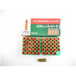 7.62 BROWNING (.32 AUTO) FMJ AMMO
