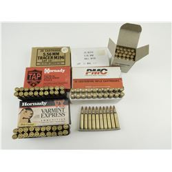 5.56MM (223 REM) ASSORTED AMMO, ON STRIPPER CLIP