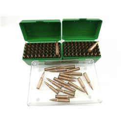 .308 ASSORTED AMMO, TWO PLASTIC AMMO BOXES