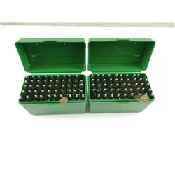 6.5 X 55 AMMO, IN TWO PLASTIC AMMO CASES